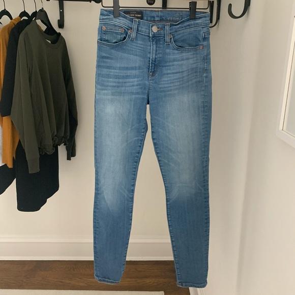 J Crew High Rise Skinny Jeans